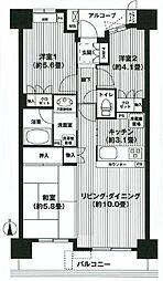 リビオ新蒲田 bt[216kk号室]の間取り