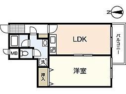 マ・ベル・エトワール[5階]の間取り