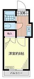 シャルム大久保[2階]の間取り