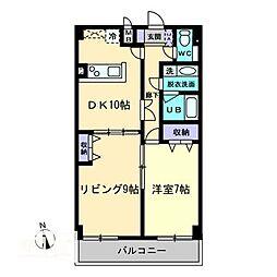 AXiS空港通[8階]の間取り