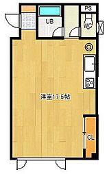 メゾンIMAI 3階ワンルームの間取り
