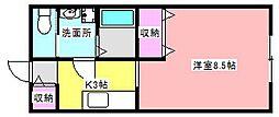 静岡県浜松市中区住吉5丁目の賃貸アパートの間取り