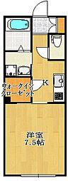 千葉県船橋市南本町の賃貸マンションの間取り