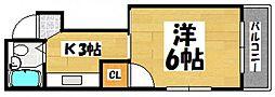 広島県広島市西区庚午北1丁目の賃貸マンションの間取り