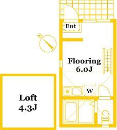 ユナイト衣笠ナーディアの杜[2階]の間取り