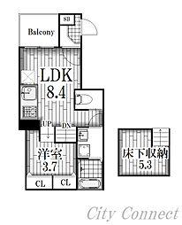 PINE金山[1階]の間取り