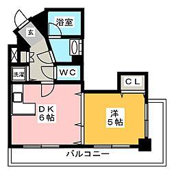 FLEX21博多II[6階]の間取り