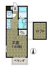 メイプル町田[2階]の間取り