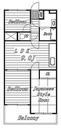 メゾンリヴィエールII[1階]の間取り