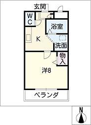 エクステージ[3階]の間取り