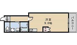 ロイヤルハイツ阿倍野[206号室]の間取り