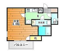 オーシャン青山[4階]の間取り