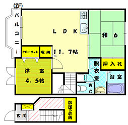 エスポワール2[2階]の間取り