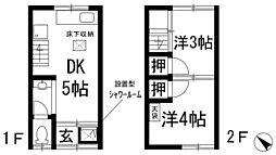[テラスハウス] 大阪府箕面市新稲1丁目 の賃貸【/】の間取り
