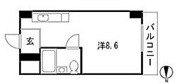 コーポラス岡本[3階]の間取り