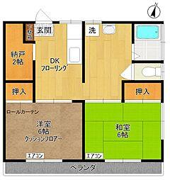 第二菅政荘[203号室]の間取り