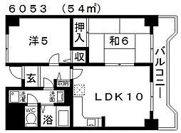 Ti45(ティーアイ45)[607号室号室]の間取り