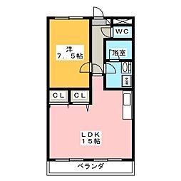 メゾン白木[3階]の間取り