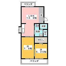メゾンドアサミ[3階]の間取り