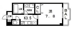 ルミエール八尾駅前[506号室号室]の間取り