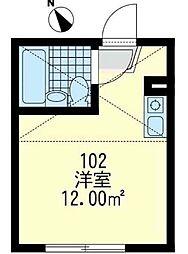 神奈川県横浜市神奈川区神之木台の賃貸アパートの間取り