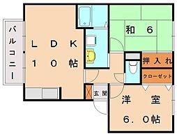 エスポワール18[3階]の間取り