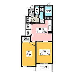 ウィキペディア[1階]の間取り