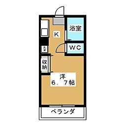稲井ハイツ北山[3階]の間取り