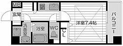 ラムール難波西[5階]の間取り