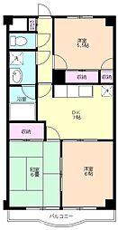志木 賃貸マンション リバーサイド志木[3階]の間取り