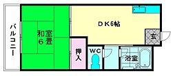 シティビル5[506号室]の間取り