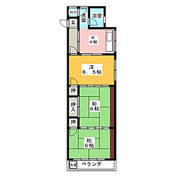 市川ビル[2階]の間取り