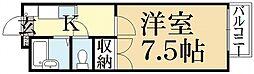 シャーリアキタヤマ[1階]の間取り