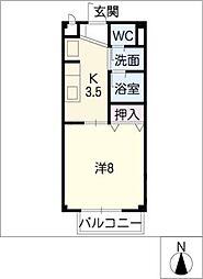 レスパス・ド・ルポ1[1階]の間取り