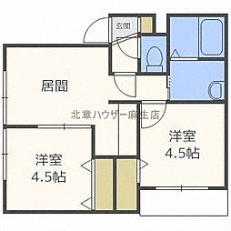 ドルチェI[2階]の間取り
