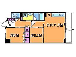カハレア調布[1階]の間取り