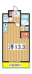 ラルク天王台[305号室]の間取り