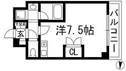 兵庫県西宮市上ケ原二番町の賃貸マンションの間取り