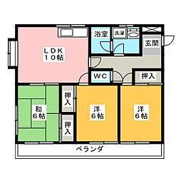 ブラウンハウス[3階]の間取り