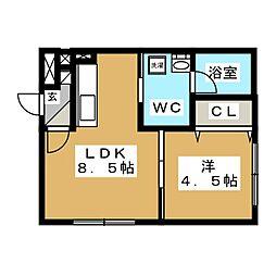 es東札幌[3階]の間取り
