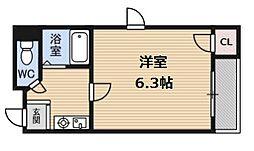プレミアム新福島[2階]の間取り