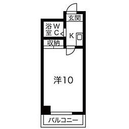 都筑マンション[4C号室]の間取り