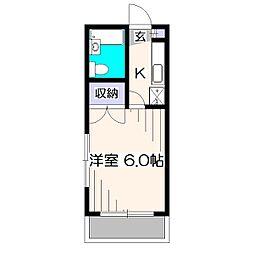 亘アパート[1階]の間取り