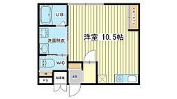 kobushi[201号室]の間取り