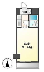 ネオハイツ錦[4階]の間取り