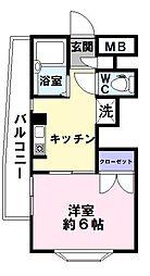 ルミナス神戸[3階]の間取り