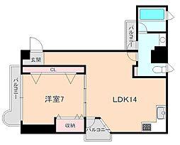 おおきに北桜塚サニーアパートメント[204号室]の間取り