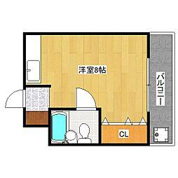 カーサ桃山[3階]の間取り
