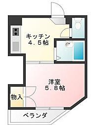 サンライズコーポ町田[0201号室]の間取り