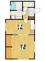 パルデンス土田[1階]の間取り